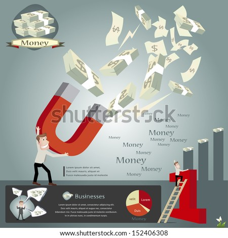 Magnet for business infographics.vector illustration - stock vector