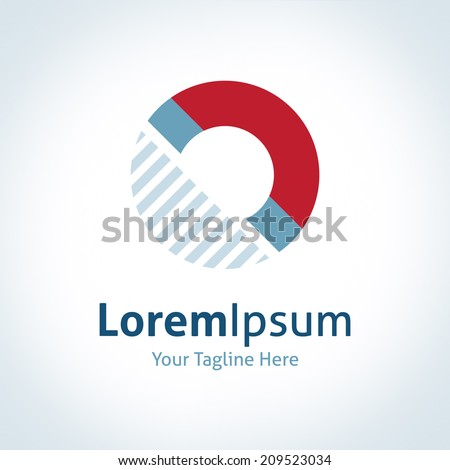 Magnet invisible force physics law vector logo icon - stock vector