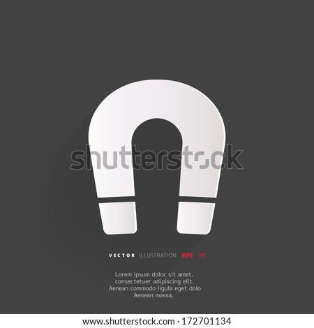 Magnet Symbol. Electromagnetism symbol - stock vector