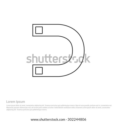 Magnet Symbol Icon Vector Illustration Stock Vector 302244806 ...