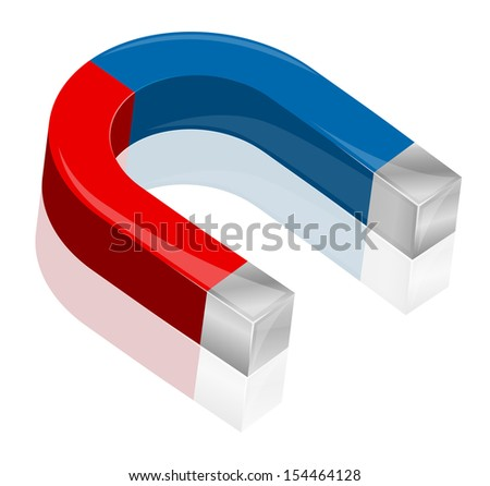 Magnet. Vector illustration - stock vector