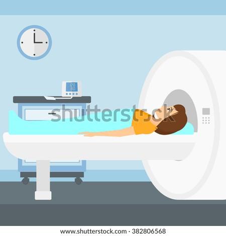 Magnetic resonance imaging. - stock vector
