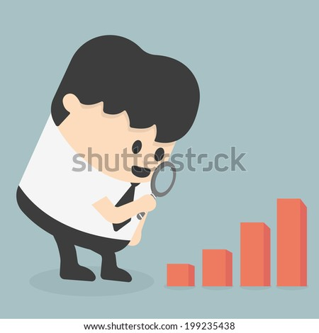 Magnified Chart - stock vector