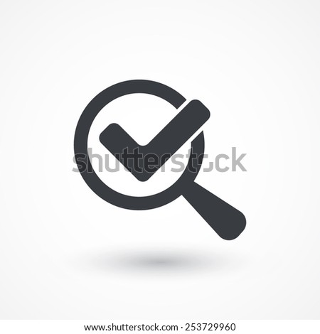 Magnified Check Mark - stock vector