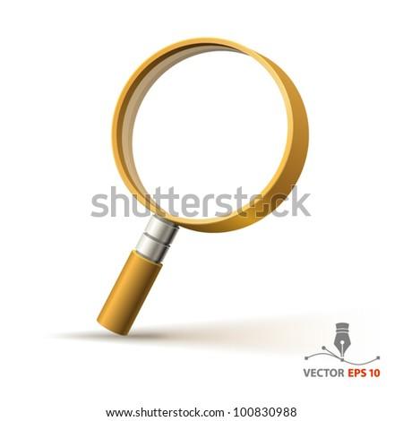 Magnifier - stock vector