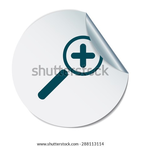 magnifier increase - stock vector