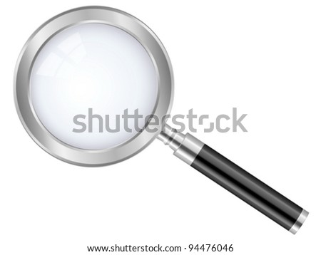 Magnifier isolated on a white background. Vector illustration.