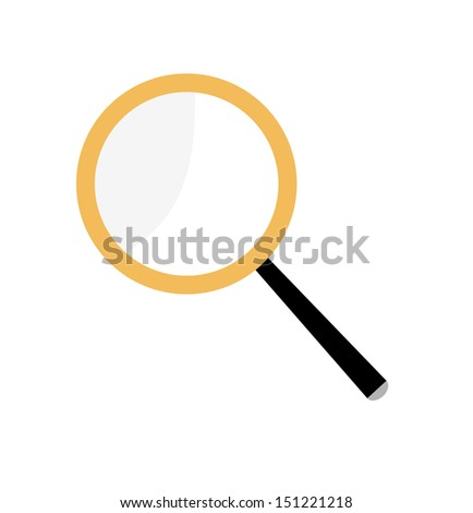 Magnifier. Magnifying glass on a white background. - stock vector
