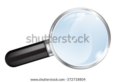 Magnifier.  Magnifying glass. Vector illustration isolated on white background