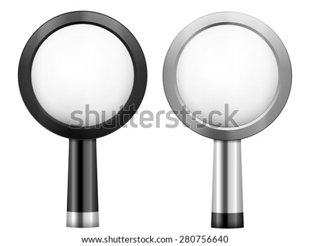Magnifier on a white background. Vector illustration.