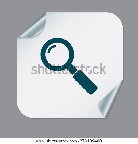 magnifier search - stock vector