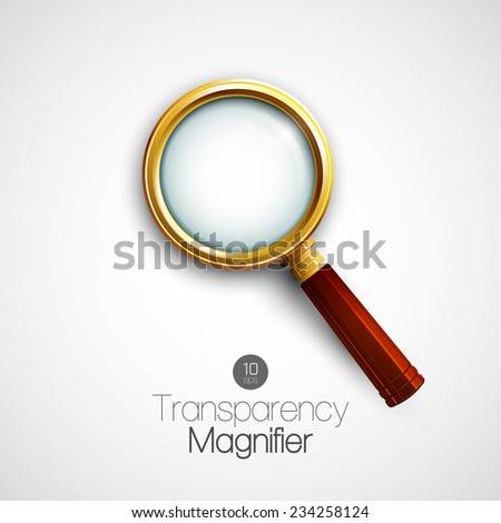 Magnifier. Vector illustration - stock vector