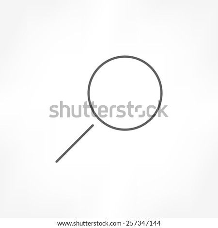 magnify glass icon - stock vector