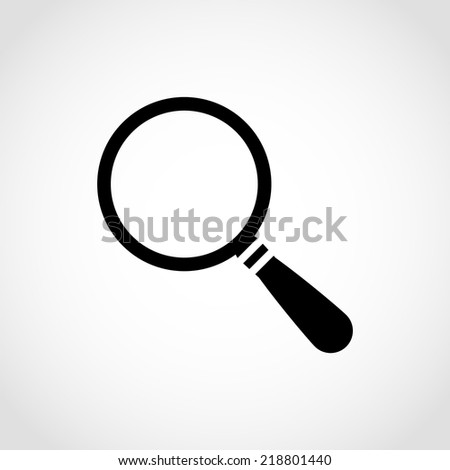 Magnify Icon Isolated on White Background - stock vector