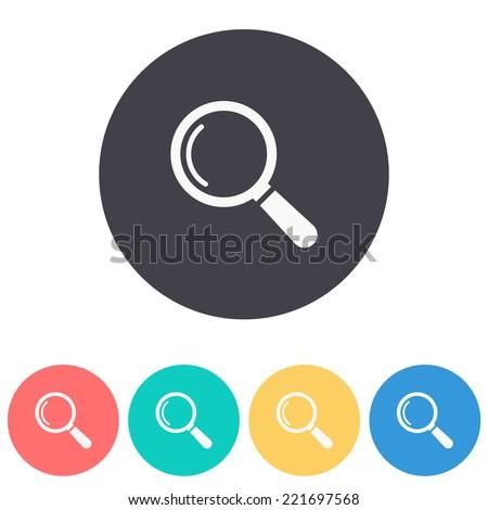 Magnify icon ,Vector illustration - stock vector