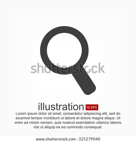 Magnify line vector icon - stock vector