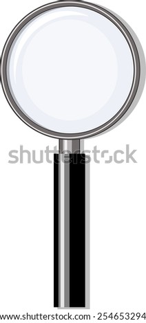 Magnifying glass, black and grey