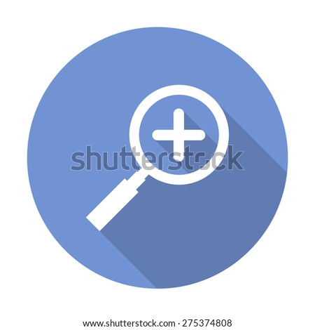 magnifying glass flat icon. vector illustration - stock vector