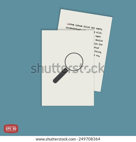 Magnifying glass icon. Flat design style. Made vector illustration - stock vector