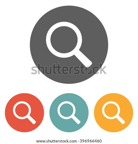 magnifying glass icon , glass icon , search icon, loupe icon - stock vector