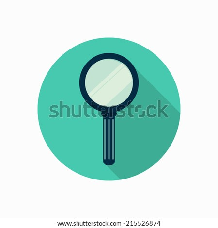 magnifying glass icon illustration - stock vector