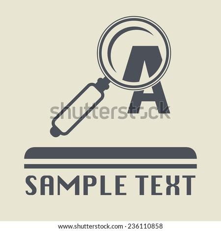 Magnifying glass icon or sign, vector illustration - stock vector