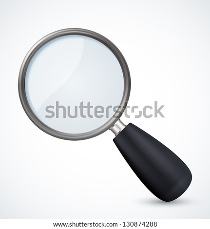 Magnifying glass icon. Vector illustration - stock vector