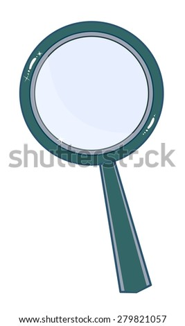 Magnifying glass isolated on white background. Search Icon. Stock Vector illustration.