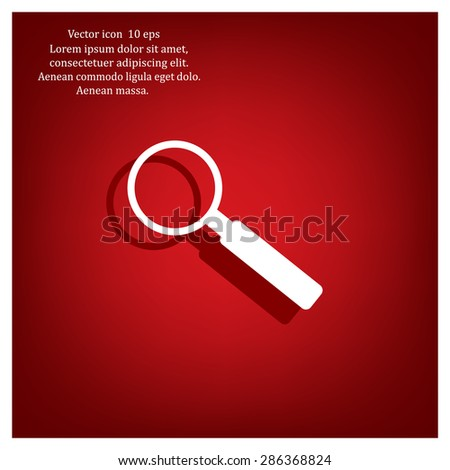 Magnifying glass isolated on white background. Search Icon. Vector illustration - stock vector