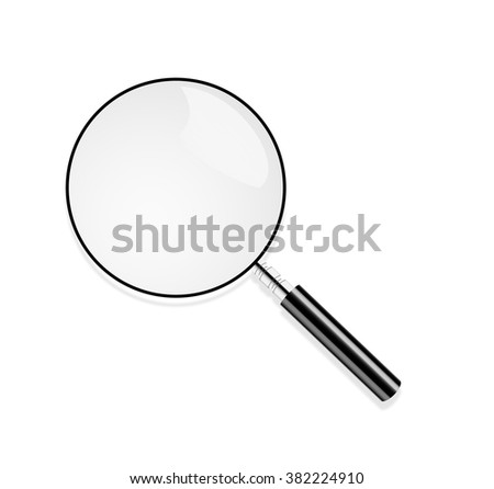 Magnifying Glass, Isolated On White Background, With Gradient Mesh, Vector Illustration. Reading glass