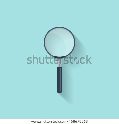 Magnifying Glass,loupe in a flat style. Zoom. Magnifier. Vector illustration. - stock vector