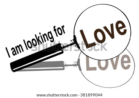 magnifying glass, love