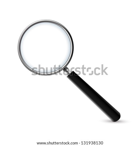 Magnifying Glass-Marketing, Isolated On White Background - stock vector
