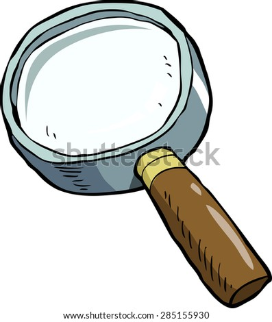Magnifying glass on a white background vector illustration - stock vector