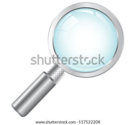 Magnifying glass.Vector - stock vector