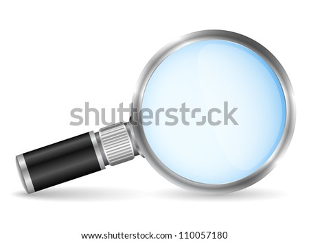 Magnifying glass, vector eps10 illustration - stock vector