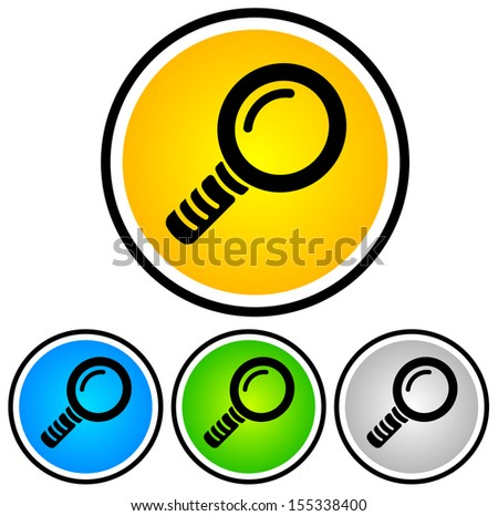 Magnifying Glass Vector Icons,Magnifier vector pictogram representing Search, research, zoom, examine, search engine, science, analytic concepts - stock vector