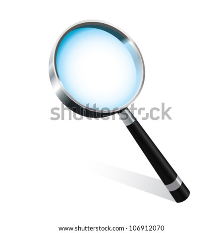 Magnifying glass vector illustration - stock vector