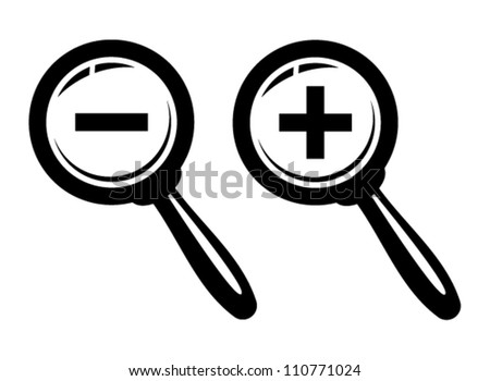 Magnifying glass. Vector illustration. - stock vector