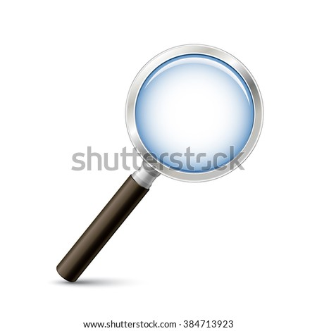 Magnifying glass vector illustration. Search or zoom vector icon
