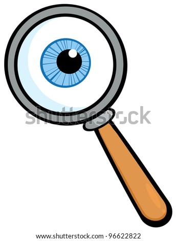 Magnifying Glass With  Eye Ball. Jpeg version also available in gallery. - stock vector