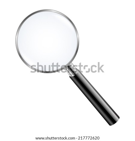 Magnifying Glass With Gradient Mesh, Vector Illustration - stock vector