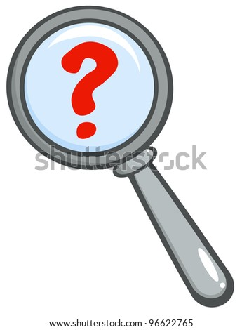 Magnifying Glass With Question Mark. Jpeg version also available in gallery. - stock vector