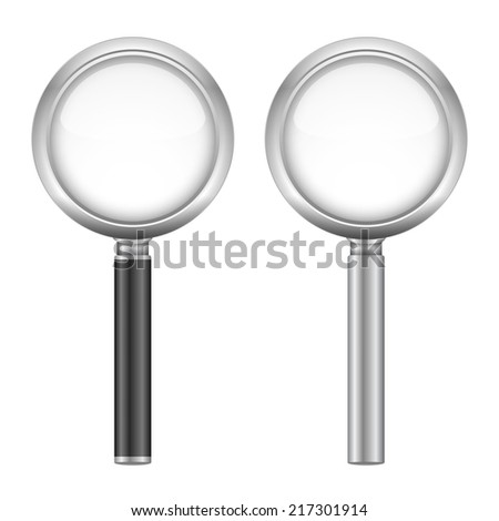 Magnifying glasses on white background, vector eps10 illustration