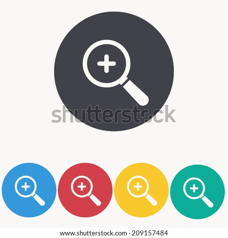 magnifying icon , vector illustration - stock vector