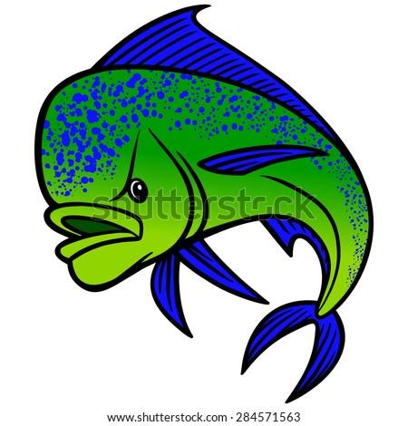 Mahi mahi fish stock images royalty free images vectors for Mai mai fish