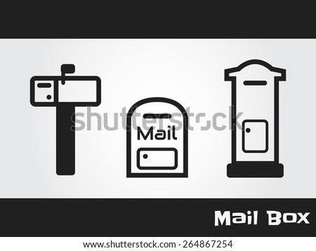 mail box - stock vector