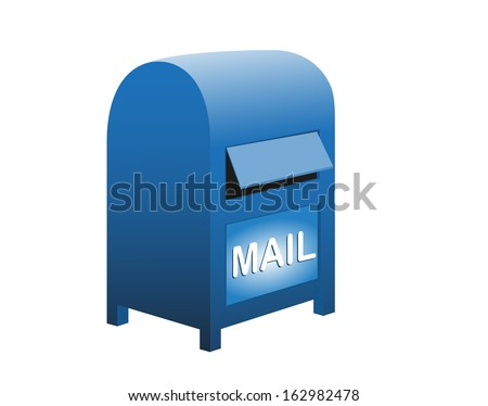 Mail box icon - stock vector
