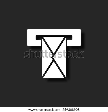 Mail box   - vector icon with shadow - stock vector