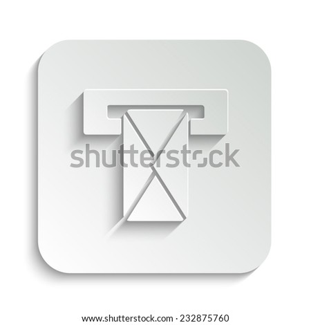 Mail box - vector icon with shadow on a grey button - stock vector